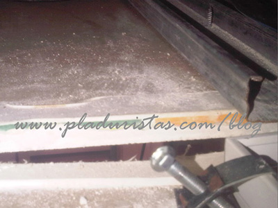 Como no se debe montar un falso techo de pladur - Como hacer un falso techo ...