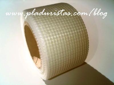 Malla de Plástico para reparar fisuras en paredes
